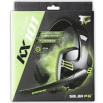 Игровая гарнитура SALAR KX101 Белый с микрофоном стерео 3.5 jack для игр геймеров пк игровые наушники, фото 8