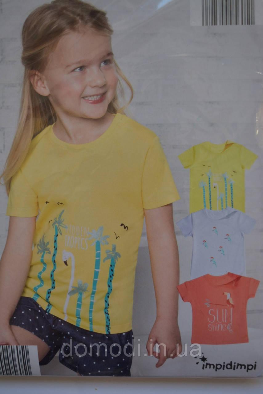 Набір футболок Impidimpi для дівчаток (100% бавовна) 6-12 місяців