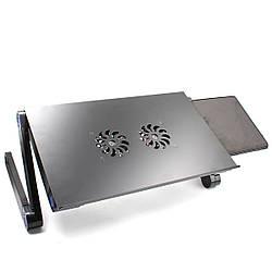 Подставка для ноутбука с охлаждением Laptop table T8 (столик)