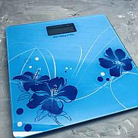 Весы напольные YZ-1604 Синие цветы