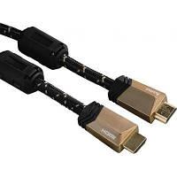 Кабель мультимедийный HDMI to HDMI 0.75m Premium HAMA (00122209)