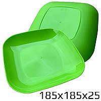 Тарелка плоская столовая (пластик)
