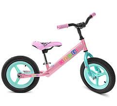 Беговел PROFI KIDS детский 12 д. M 3846A-2, розовый-мята
