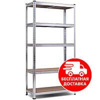 Стеллаж Универсал - 120 2000х1000х500мм 5полок металлический полочный для дома, склада, магазина