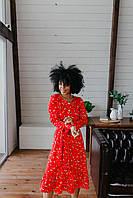 Платье с принтом красного цвета Udler, фото 1