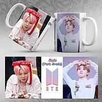 Чашка 330 мл. белая K-Pop BTS 541-542 Jimin (Park Ji-min)
