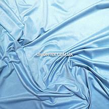 Ткань замша стрейчевая голубая, фото 3