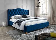 Кровать ASPEN 160 вельвет синий (Signal), фото 1