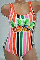 Купальник Fuba.Vi полосатый ананасик оранжевый, фото 1