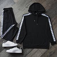 Спортивный костюм мужской Adidas black с лампасами / весенний осенний ЛЮКС