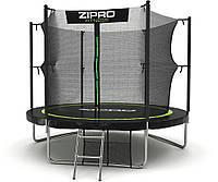 Бесплатная ДОСТАВКА Zipro Garden батут 312см (10ft) діаметр з драбинкою і внутрішнью сіткою, фото 1
