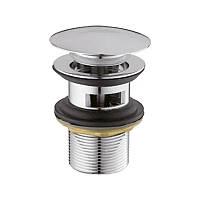 Донний клапан хромований натискний з переливом HB 11, фото 1