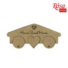 "Ключниця ""Home Sweet Home"", 3 брелоки, МДФ, 19,5х1,2х8,7см, ROSA TALENT"