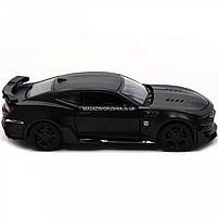 Машинка модель Автопром Chevrolet Самого (Шевроле Камаро) Чорний, 15 см (7863), фото 4