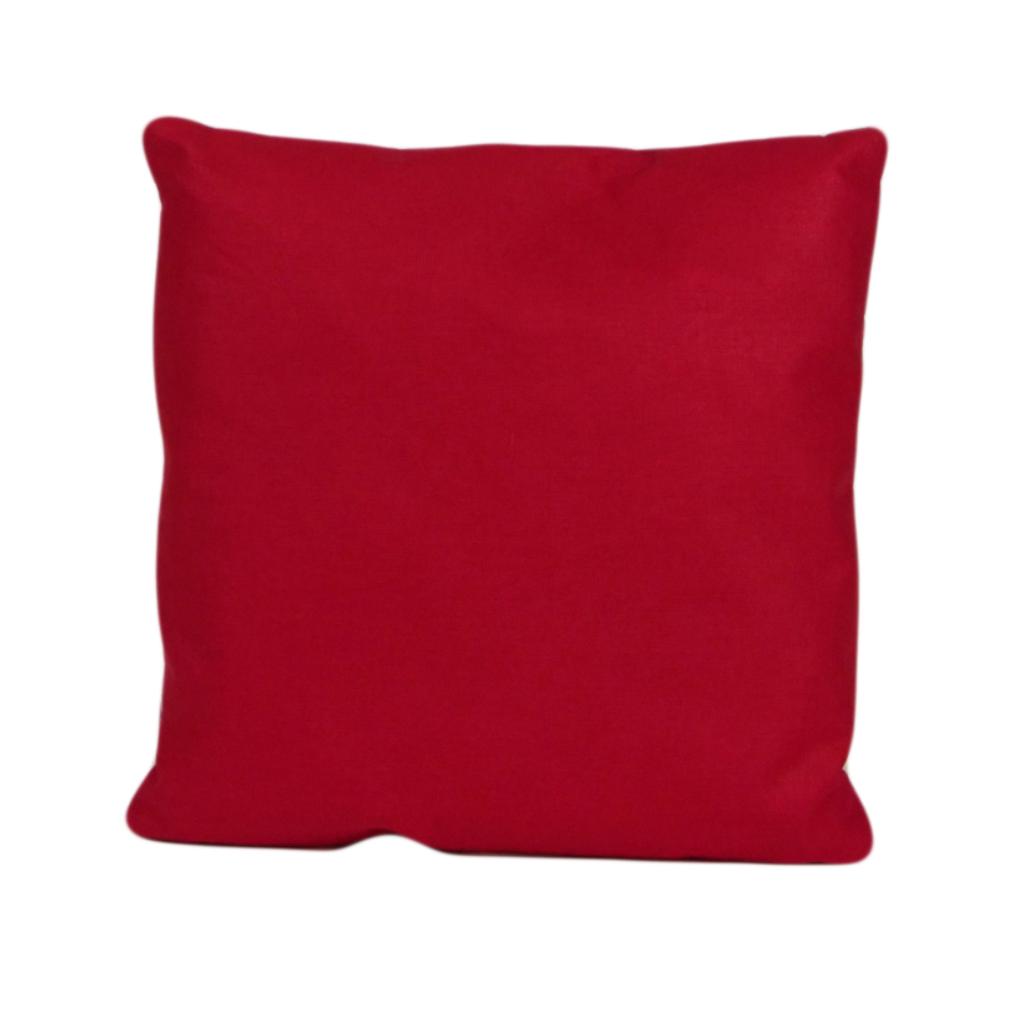 Подушка, 30*30 см, (бавовна), (червоний)