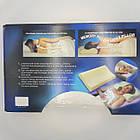 Ортопедическая подушка Memory Pillow с эффектом памяти 50х30х10 см, фото 3