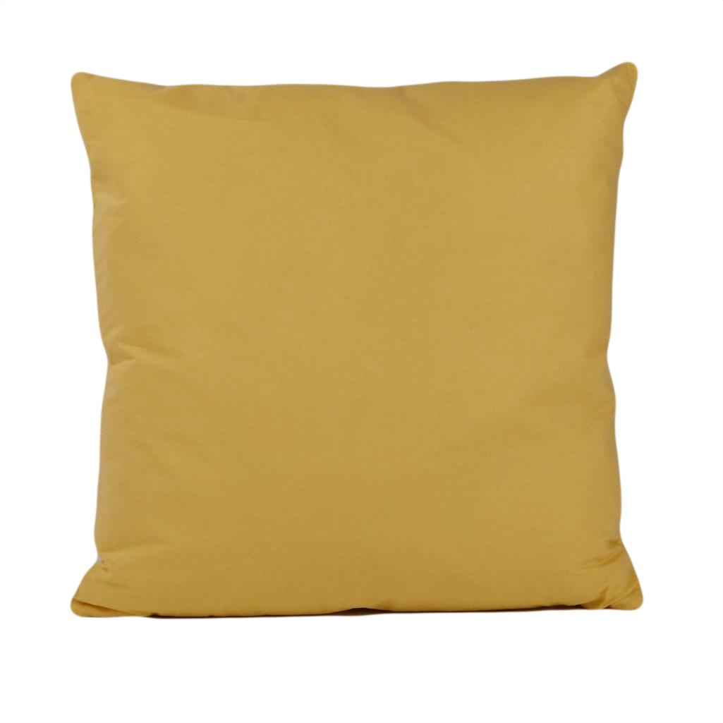Подушка, 40*40 см, (бавовна), (бананово-жовтий)