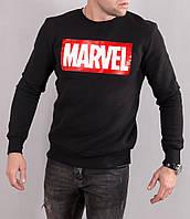 Свитшот черный Marvel | Кофта марвел лого
