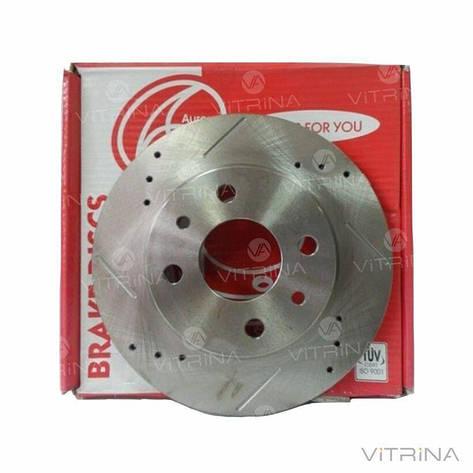 Тормозные диски ВАЗ 2108, 2109, 21099, 2113, 2114, 2115 СПОРТ (d=13', перфорированные, от 2 шт) | AURORA, фото 2