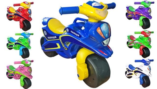музыкальный беговел мотоцикл долони