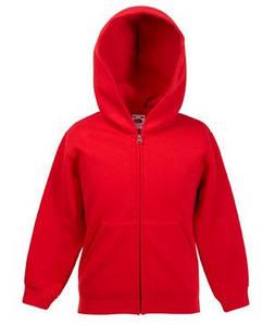 Детская классическая куртка-толстовка с капюшоном 40 Красный 116 см