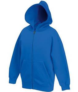 Детская классическая куртка-толстовка с капюшоном 51 Ярко-Синий 116 см