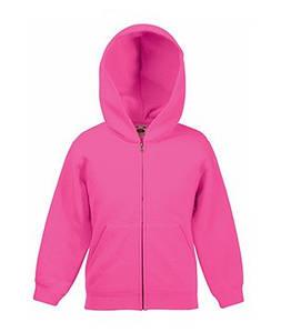 Детская классическая куртка-толстовка с капюшоном 57 Малиновый 116 см