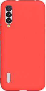 Чехол накладка для Xiaomi Mi A3 силиконовый матовый, Fresh Series, красный