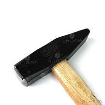 Молоток слесарный с деревянной рукояткой (800 гр.)   СИЛА 320116, фото 3