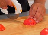 Самурай 360 - кухонный нож + сменное лезвие для смягчения мяса, фото 3
