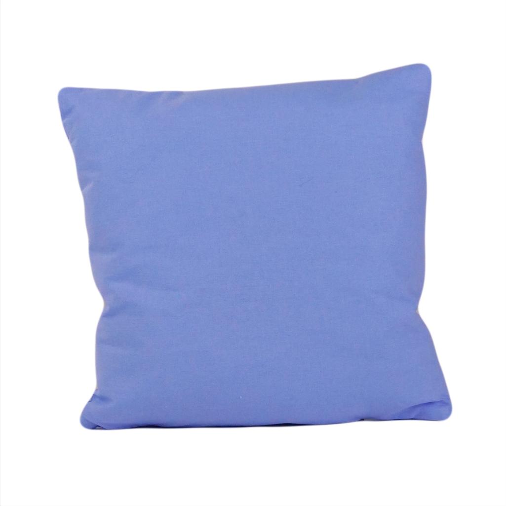 Подушка, 30*30 см, (бавовна), (темно-блакитний)