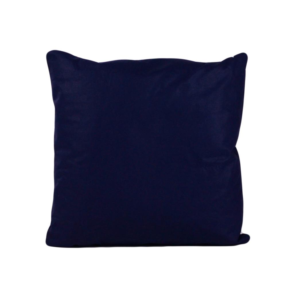 Подушка, 40*40 см, (хлопок), (темно-синий)