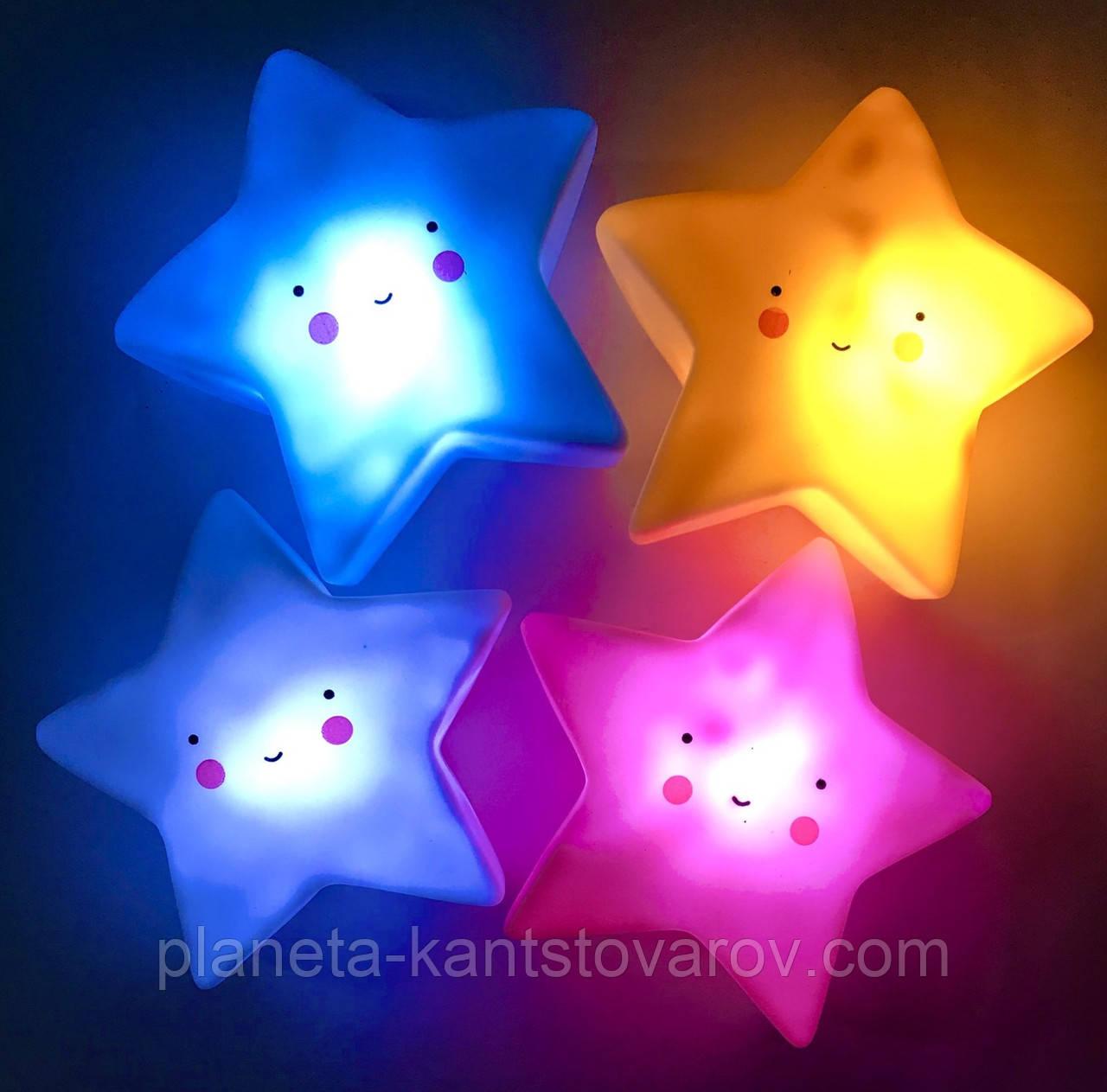 """Декоративный LED светильник ночник """"Звездочка"""" 8020 (диаметр 13см)"""