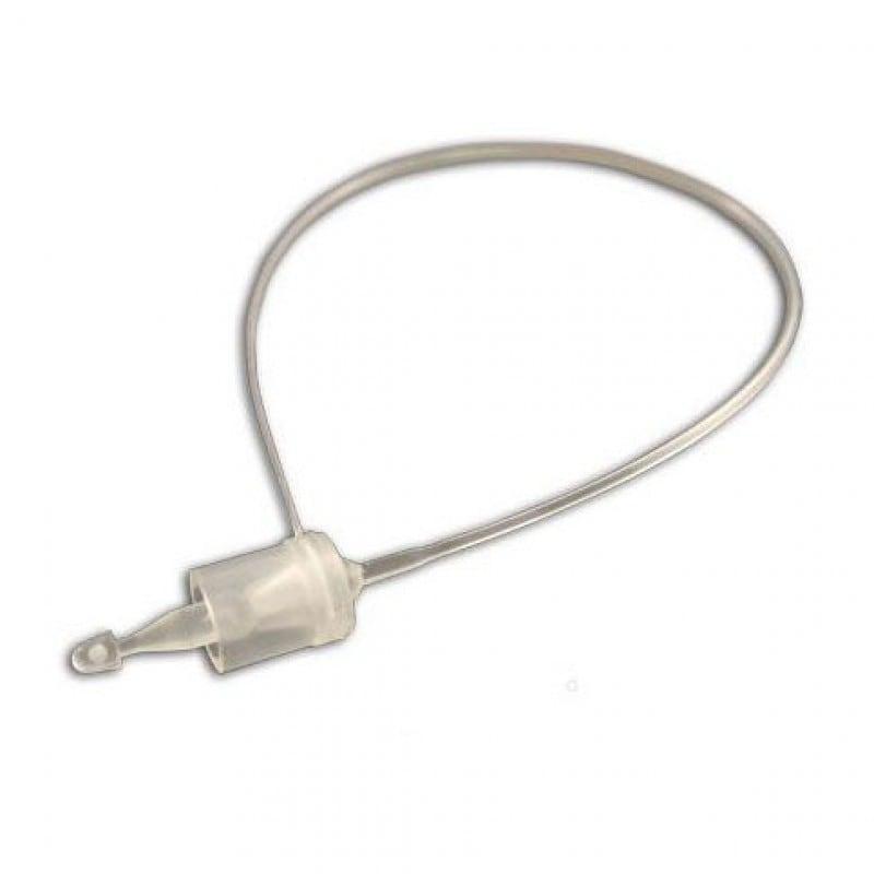 Ярлыкодержатель пластиковый кольцевой для крепления бирок и ярлыков вручную 1000 штук длина 15 см прозрачный