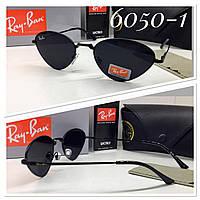 Стильные солнцезащитные очки треугольники черные линзы