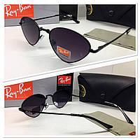 Стильные солнцезащитные очки треугольники черные линзы градиент