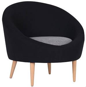 Кресло Eclips Сидней черный 7, серый 20, подушка серый 20