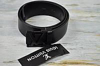 Черный ремень Louis Vuitton натуральная кожа