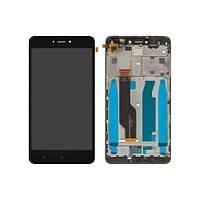 Дисплей XIAOMI Redmi Note 4X с чёрным тачскрином и корпусной рамкой