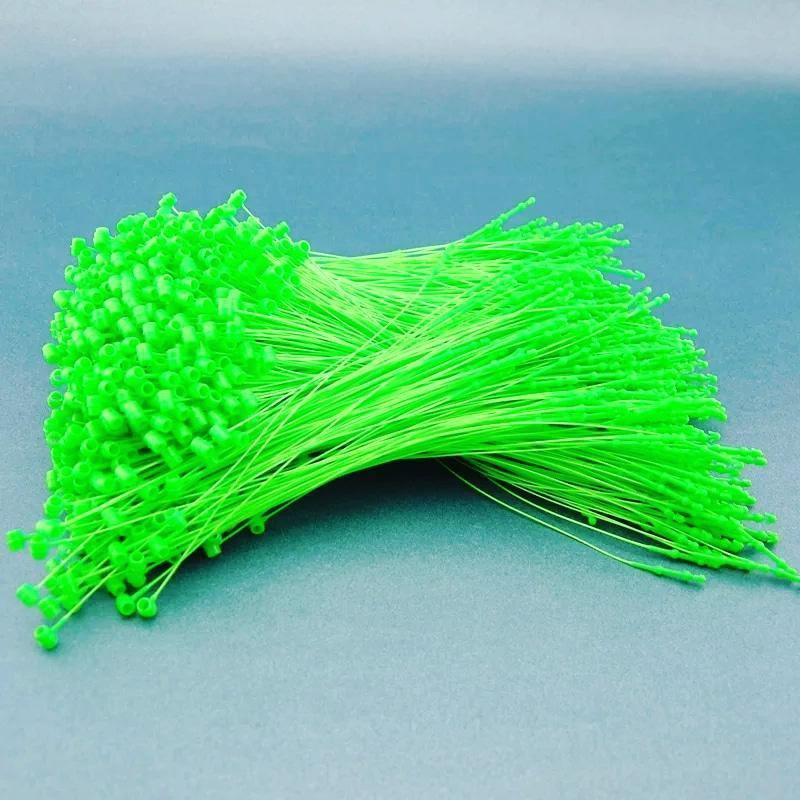 Ярлыкодержатель пластиковый кольцевой для крепления бирок и ярлыков вручную 1000 штук 12 см зелен