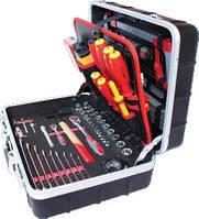Набор инструментов Utool для электрика 125 предмета, алюминиевый кейс