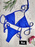 Купальник женский раздельный синий без чашек (чашки идут отдельной позицией) серии PALERMO