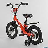 Велосипед детский Corso Magnesium MG-66936 ,магниевая рама,дисковые тормоза,литые диски, колеса 14 дюймов, фото 4