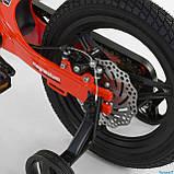 Велосипед детский Corso Magnesium MG-66936 ,магниевая рама,дисковые тормоза,литые диски, колеса 14 дюймов, фото 5