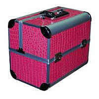 Чемодан-кейс алюминиевый 2629 розовый лак