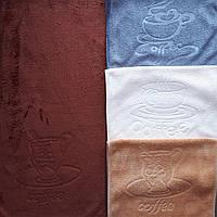 Кухонное полотенце микрофибра 25х50 Кофейный сервиз, фото 1