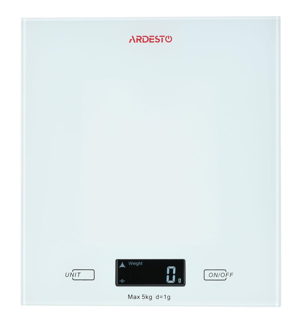 Весы кухонные Ardesto SCK-893W Электронная 5 кг Белый