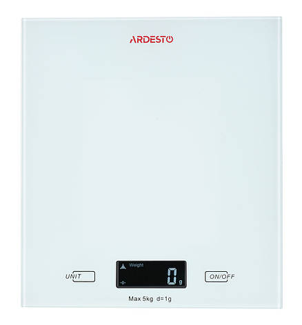 Весы кухонные Ardesto SCK-893W Электронная 5 кг Белый, фото 2