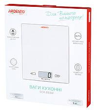 Весы кухонные Ardesto SCK-893W Электронная 5 кг Белый, фото 3