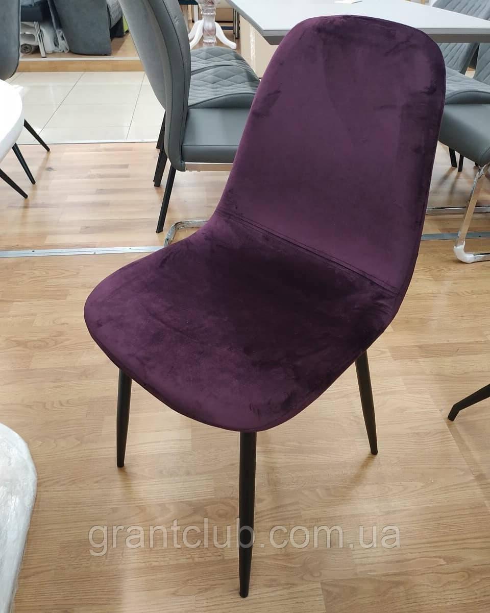 Мягкий стул M-10 баклажан вельвет Vetro Mebel (бесплатная доставка)